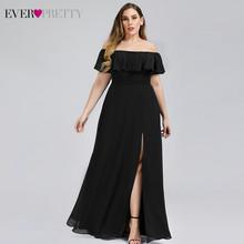 Розовое платье подружки невесты размера плюс с вырезом-лодочкой, ТРАПЕЦИЕВИДНОЕ ПЛАТЬЕ для свадебной вечеринки EP00968, 2020(China)
