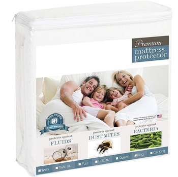 Hypoallergenic Bed Cover Waterproof Bamboo Mattress Protector Cover