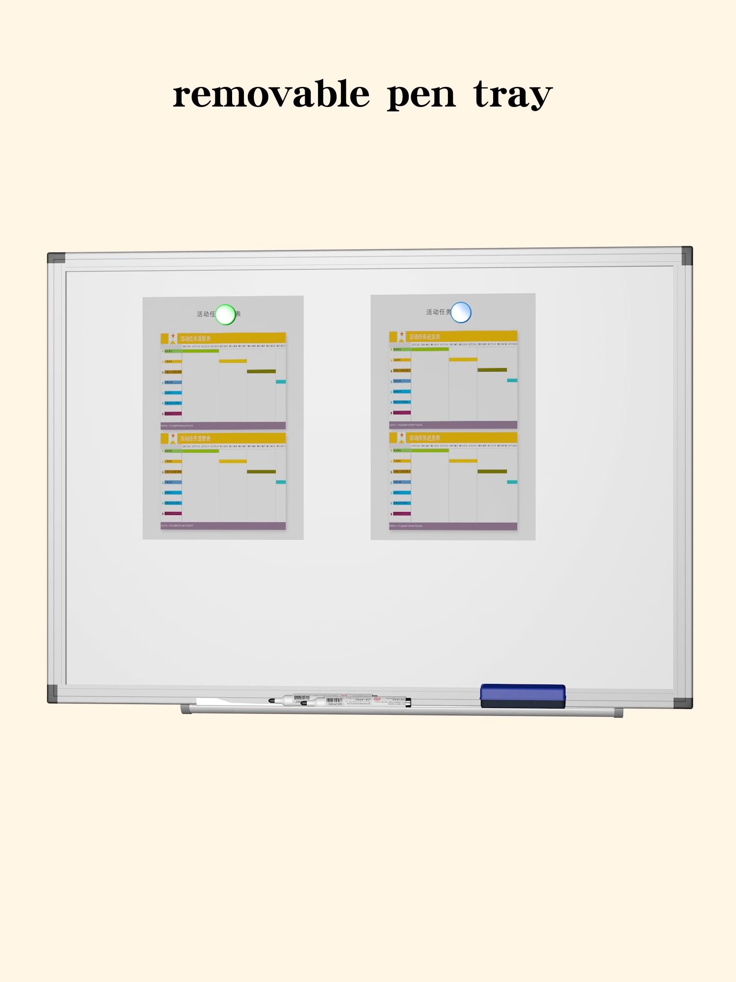 Placa magnética de la escuela placa verde pizarra tiza de la Escuela de mensaje variable Junta