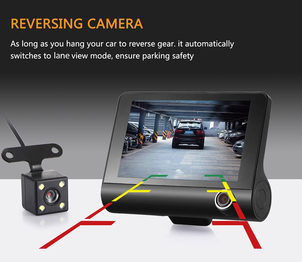 4 inch LCD hd car dvr1080P dash dual cam driving recorder car camera dvr 1080p mini dash cam