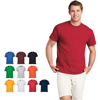 220gsm high quality heavy thick Cotton OEM print short sleeve custom logo blank plain t shirt