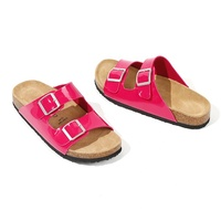Wholesale new fashion ankle ladies slippers and sandals cow suede leather heels summer woman sandals
