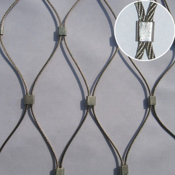 Factory Supply Stainless Steel Wire Mesh Cable Rope Mesh Zoo X Mesh Fencing