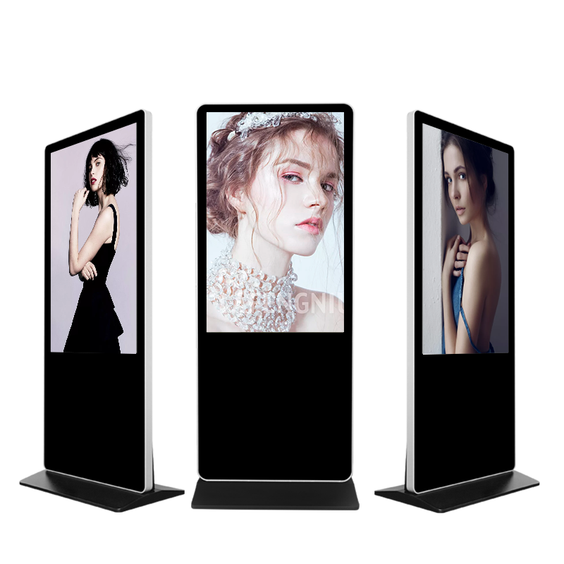 43 inch verticale floor stand led lcd commerciële indoor screen digitale reclame display prijs