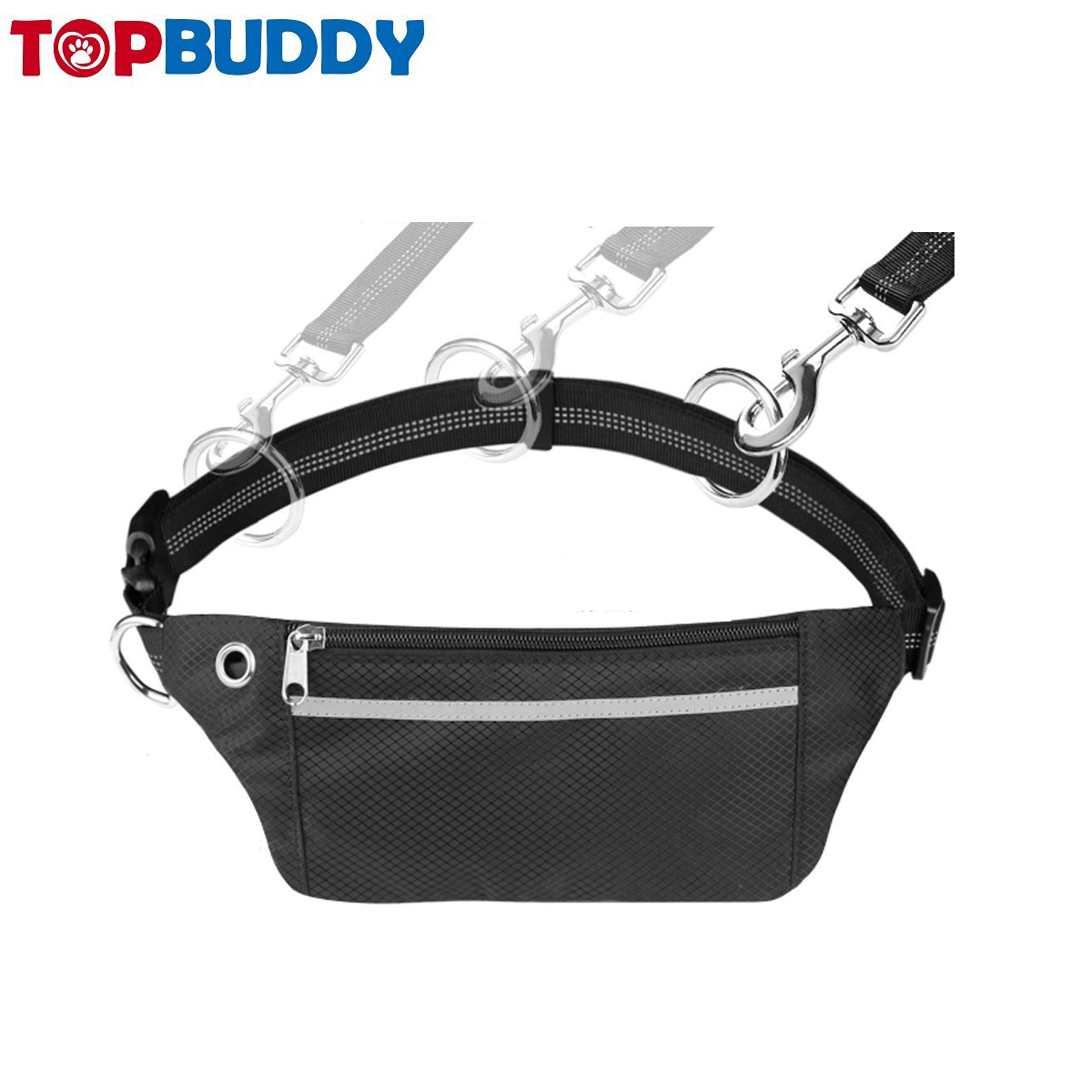 Retractable Bungee Dog Running Waist Leash for medium to large dogs walking
