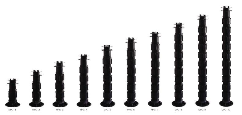Heavy loading Plastic Adjustable Raised Floor Pedestal