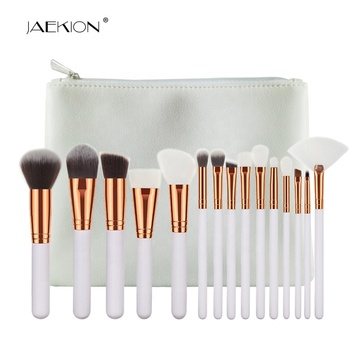 Großhandel Professionelle 15 stücke Neue Weiß Make-Up Schönheit Kosmetische Make-up Pinsel Kit Weiche Synthetische Haar Tragbare Make-Up Pinsel Set