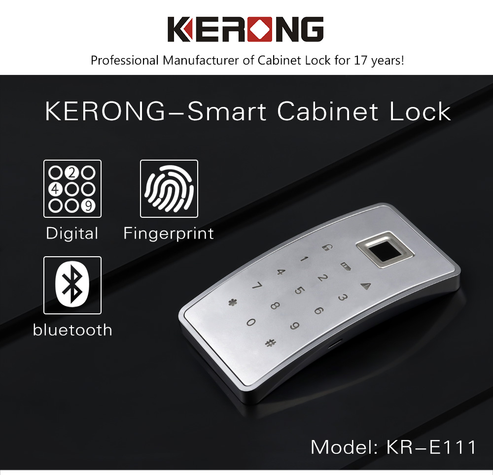 KERONG Electronic Smart Delicate Security Fingerprint Cabinet Lock for Office File Locker, Home kitchen Wardrobe, Gym Cabinet