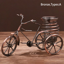 Органайзер для хранения в форме трехколесного велосипеда в стиле ретро, простой подарок, железная декоративная ручка для дома, держатель, о...(Китай)