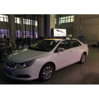 shenzhen factory waterproof ads digital led car taxi roof top advertising signs for sale