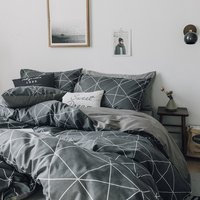 Modern Simple design bedsheet home quilt bedding set 100% cotton