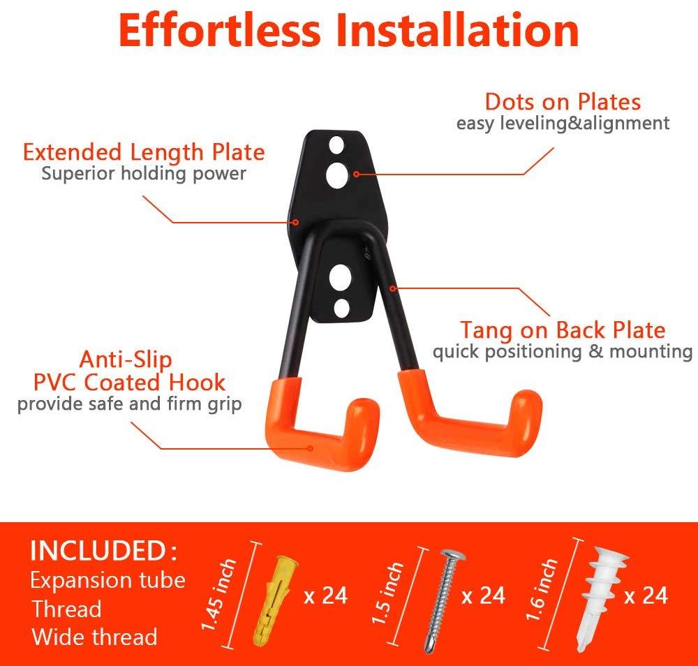 garage hooks 12-pack garage storage hooks & hangers heavy duty wall mount garage organizer
