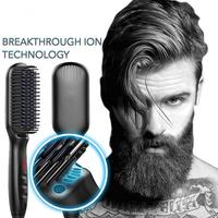 Amazon 2 In 1 Hot Comb Electric Beard Straightener Brush / Steam Comb Hair Straightener Brush