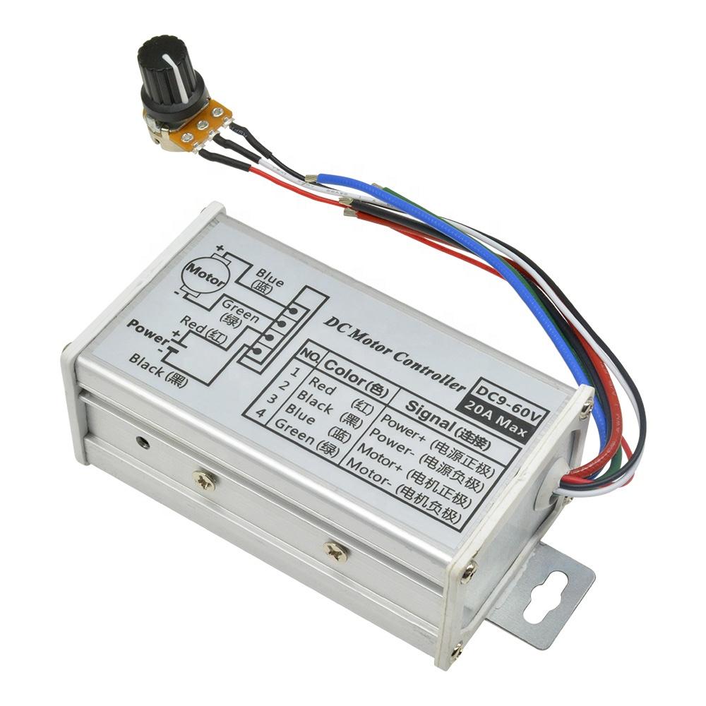 Controlador de Velocidad del Motor del Cepillo DC Sin Escala Regulador de la Velocidad del M/ódulo 12-24V 30A