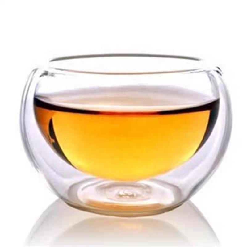 Atacado Artesanal de Parede Dupla Copo De Vidro Mini Bebidas Pequenas Xícaras de Chá