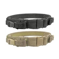 yakeda nylon other police supplies combat army tactical canvas military belt correas militares with pistol pouches