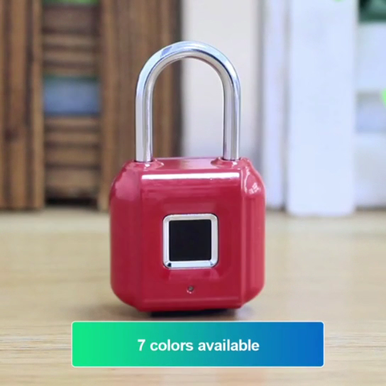 Absoluut Geweldig Automatische Werking Slimme Digitale Alarm Vingerafdruk Pad Lock/Smart Biometrische Vingerafdruk Hangslot