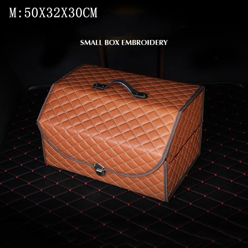 Автомобильный ящик для хранения S/M/L, кожаная автомобильная сумка для хранения, Универсальный складной Автомобильный багажник, органайзер, ...(Китай)
