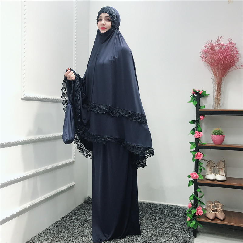 Skirts two-piece-set khimar abaya hijab kaftan robe prayer dress