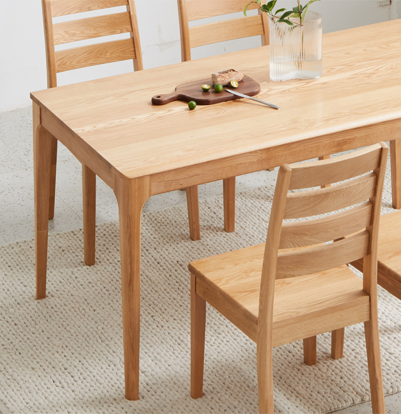 product-BoomDear Wood-solid wood table dining table set short 4 persons modern online pine ash oak w-2