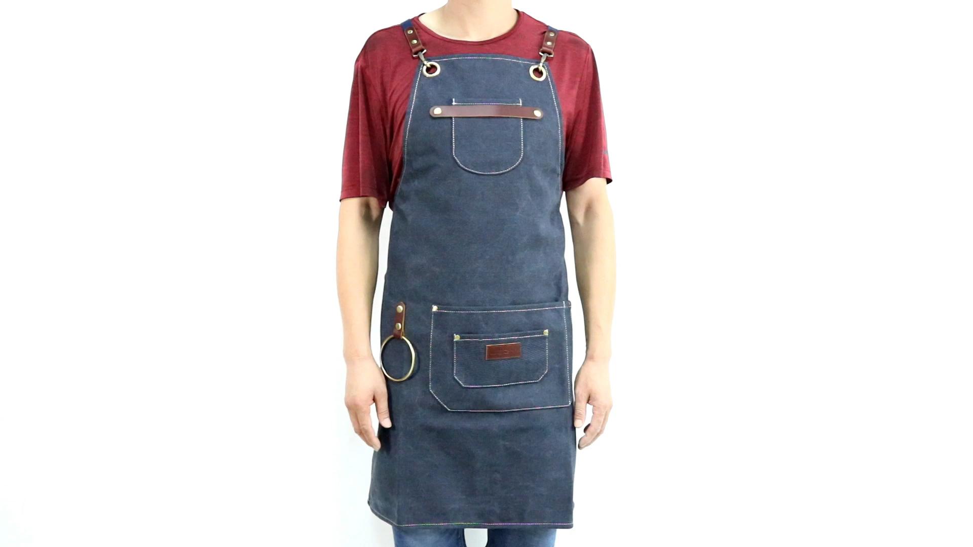 Custom multifunzionale di tela lavabile ristorante cucina grembiule da cucina