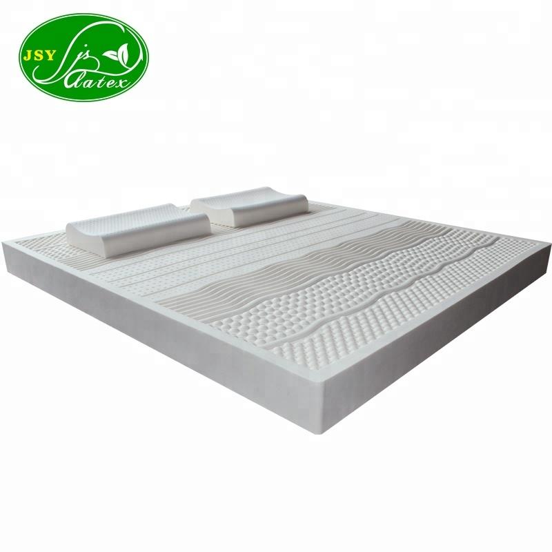 タイ 7 ゾーン分布天然ラテックスマッサージマットレス輸入高品質寝具通気性空気穴快適な背骨