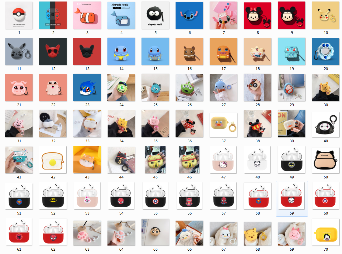 3d Earphone Case For Airpods Pro Case Silicone Stitch Cat Cartoon