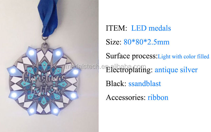 Custom unique starfish animal logo soft enamel shiny copper plating glitter luminous souvenir metal medal run