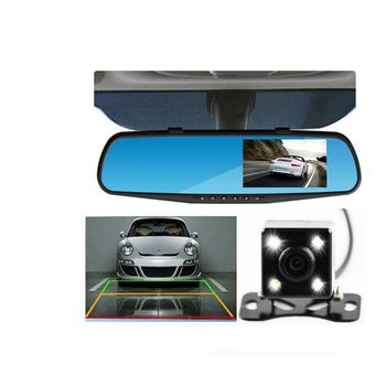 Best Selling 4.3 Inch Hidden HD 1080P Reversing Automobile Car Side Rearview Mirror Camera DVR Recorder System Dual Lens for Car