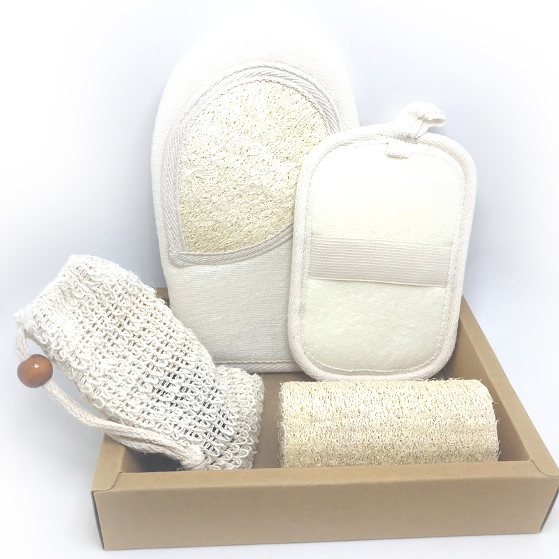 פילינג מיט כפפות עדין להתרחק תאי עור מתים עבור אמבט