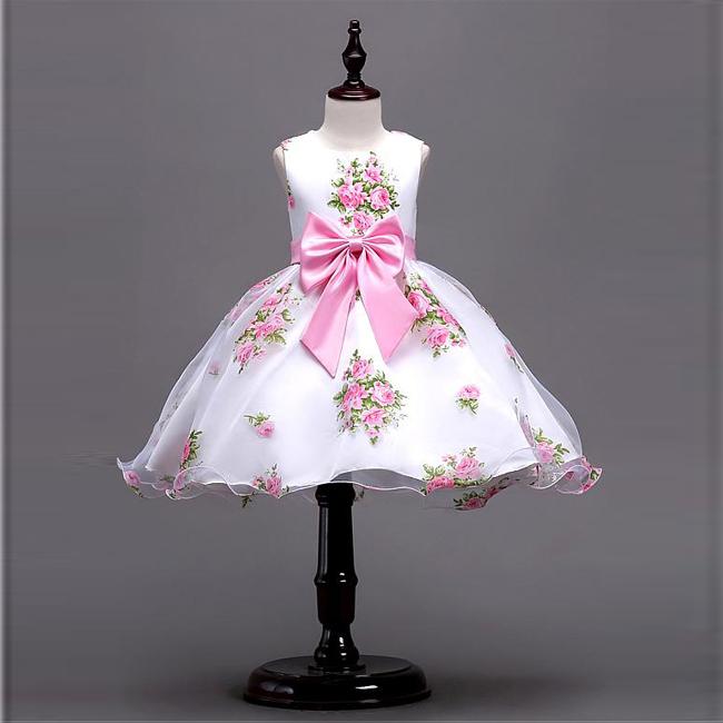 Günstige Preis Modest Schöne Blume Mädchen Baby Kleider ...
