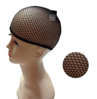 black adjust stretch mesh dome wig cap for wig, white fish net spandex mesh wig cap