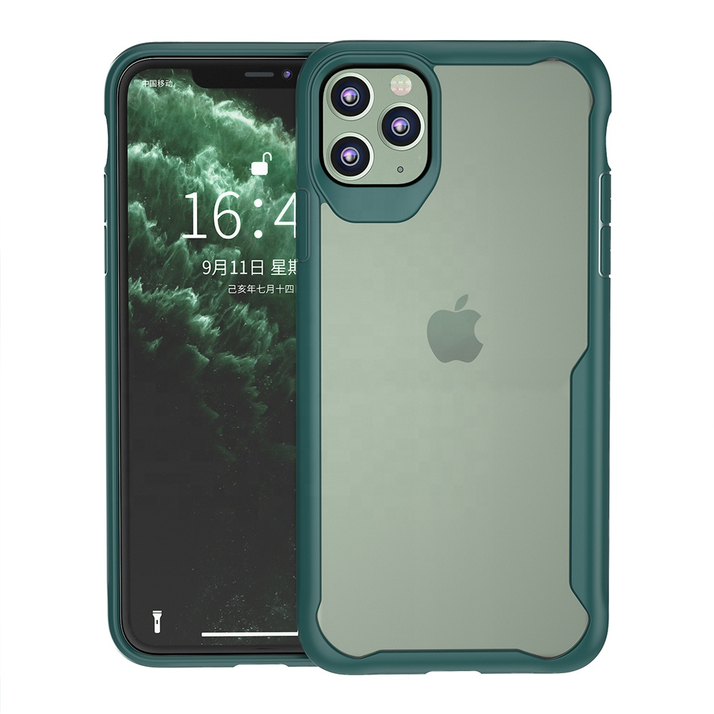 Hohe Qualität Ultra Clear Acryl Hybrid Abdeckung TPU 2 IN 1 Tough Handy Fall für iPhone 11 Pro Max