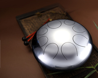 New design electroplate mirror style steel tongue drum percussion instrument