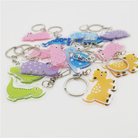 Factory Promotion Custom Printed Clear Acrylic Keychains Key ring with One Side Printings