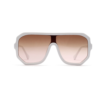 oversized square shades women white trendy big frame sunglasses