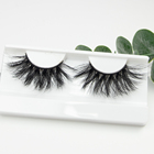 bameier ready to ship stock 25mm eyelashes hot sale fluffy mink lashes 3D 25mm lashes