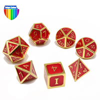 manufacturer educational dual color swirl prg antique brass polyhedral d&d metal dice