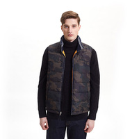 New arrival quilted reversible winter sleeveless jacket fashion camo puffer mens vest