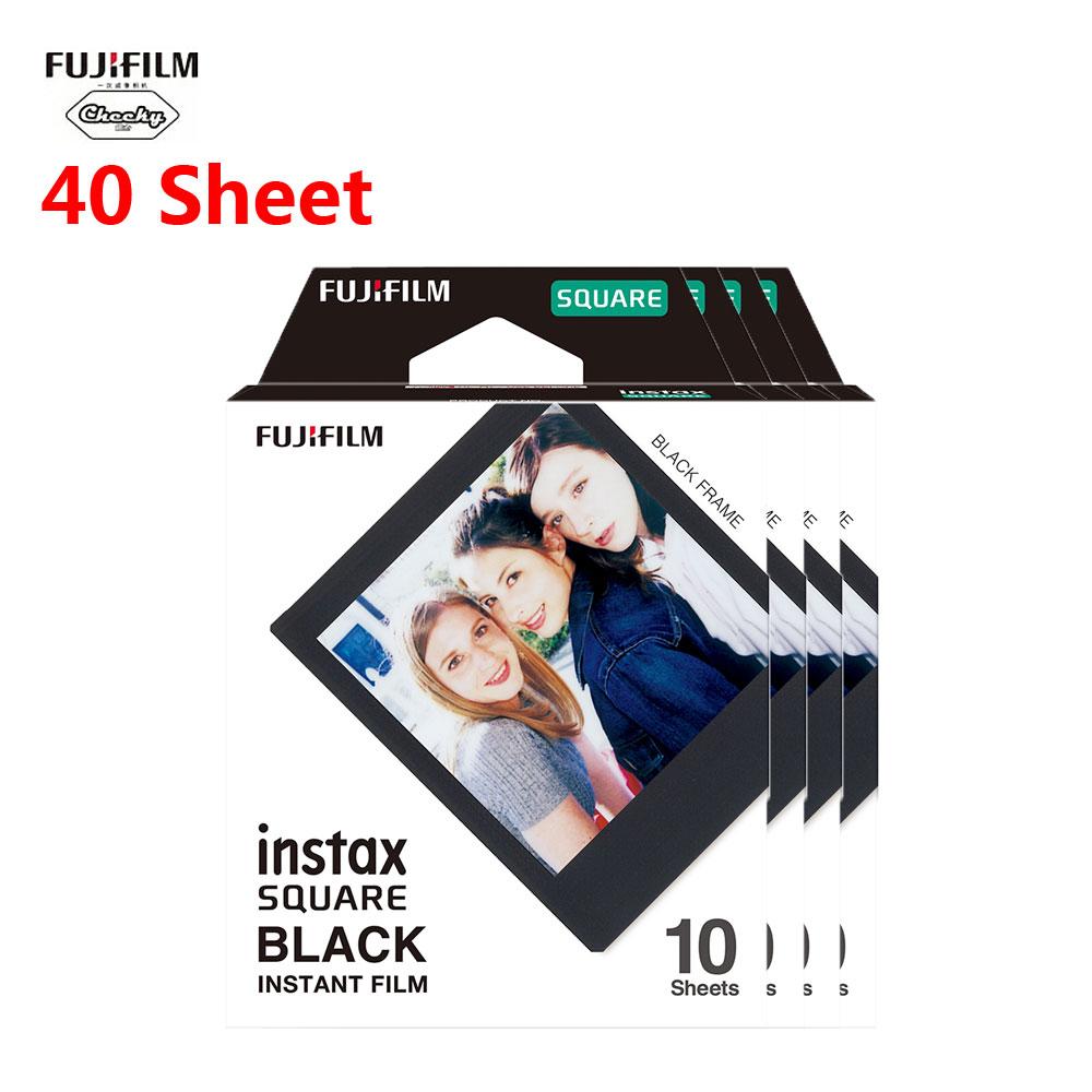 Новая Fujifilm Instax черная мини пленка 10 20 40 60 листов мини мгновенная пленка для камеры Instax Mini квадратная SQ20 SQ10 SQ6 оригинальная(Китай)