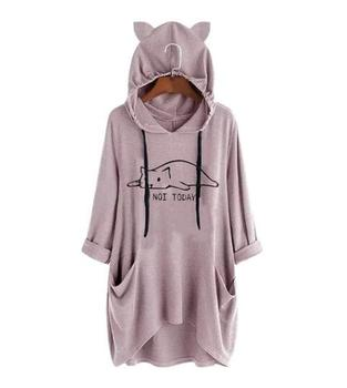 OEM custom Autumn Winter women fashion hoodie Pullover Long Sleeve  Plus Size Dresses