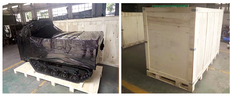 Cina Hidrolik Truk Dumper 7ton 8 Ton Crawler Carrier Mini Dumper Loading Kapasitas 0.5 Ton