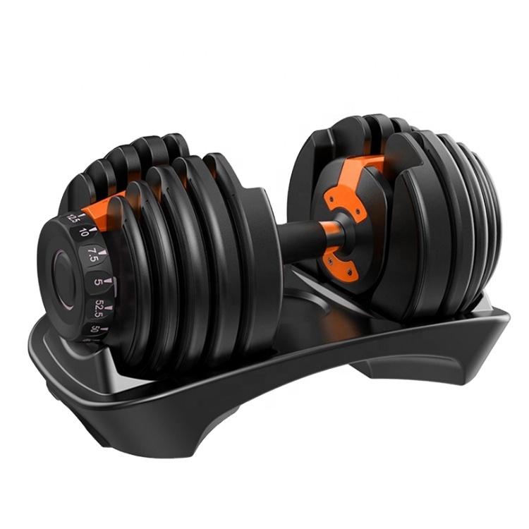 Cheap 90 lb 40 kg Adjustable Dumbbell Set Adjustable Rubber Dumbbell For Sale