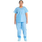 Uniform Uniform Unisex Disposable Scrub Suit Upper Half Sleeve Hospital Scrub Suit Uniform
