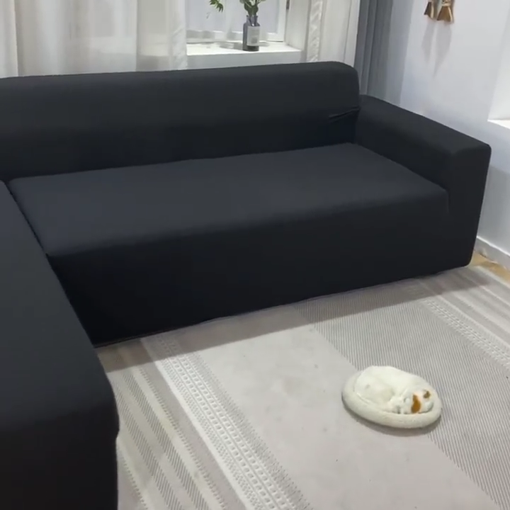 Commercio all'ingrosso elastico a buon mercato divano per soggiorno divano ad angolo di copertura di disegno