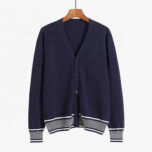 中年ファッション純粋な綿クラシックメンズ服ビジネス V ネックカーディガンニット絶妙なデザイン