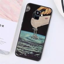 MaiYaCa большой Триппи арт эстетическое Космос астронавт Луна девушка чехол для телефона для samsung A7 A50 A70 A40 A20 A30 A8 A6 A8 плюс A9 2018(Китай)