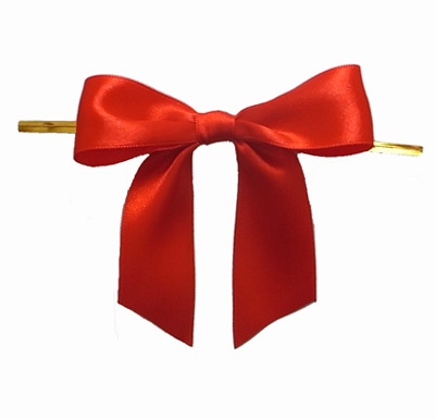 गर्म बिक्री उपहार लपेटें पूर्व बंधे धनुष साटन रिबन धनुष टाई के लिए उपहार पैकिंग या सजावट