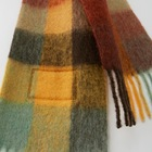 Label Scarves Plaid Scarf Luxury Fringed Plaid Customized Label Scarf Big Thick Rainbow Vintage Cashmere Scarf