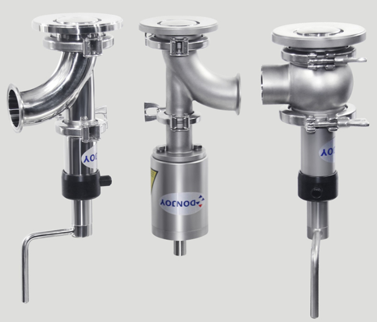 DONJOY SS304/SS316 stainless steel Manual Elbow can bottom valve